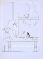 WILL BARNET Fifth Season 1977, Lithograph on Arches Watermarked Paper. Hand signed. Dated. Artist Proof aside from the regular edition of 75 . Watermarked. Unframed.