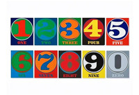 ROBERT INDIANA Numbers, Limited Edition Book of 10 Silkscreens (Bound) with Slipcase 1968-2008.