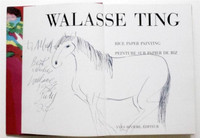 Walasse Ting Horse Drawing Rare Signed & Dedicated, Unique  (Sam Francis friend)