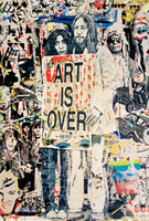 MR. BRAINWASH John Lennon & Yoko Ono: Art is Over....Here ca. 2010, Offset Lithograph poster. Signed on the recto. Unframed