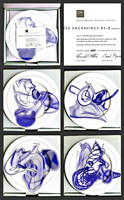 FRANK STELLA Vortex Engravings #5 - 8: Gift Box of Four Limited Edition Plates, Signed and Numbered with Signed COA 2000, Suite of four (4) Fine Bone China Plates. Each signed and numbered from the limited edition of 1000 on the verso.