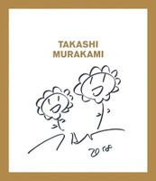 TAKASHI MURAKAMI Two Flowers 2018, Original signed drawing done in marker