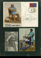 Figurative realist artist DUANE HANSON autographed boldly signed card 1986 RARE!