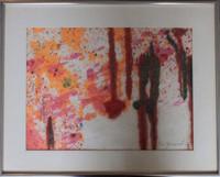 TARO YAMAMOTO Signed Painting Robert Motherwell Jackson Pollock Mark Rothko Era