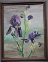 Canadian Artist Mary M. Canton Painting SIGNED 1952 Montreal Museum of Art Label