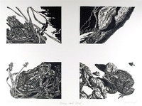 "Jack Beal: Frogs and Toads, Lithograph, Signed/N, ""Conspiracy: The Artist as Witness"", 1971"