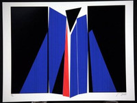 Jean Baier Silkscreen Signed/N, 1975 (from Swiss Arts Portfolio)