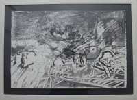 Renowned African American sculptor RICHARD HUNT, Lithograph, Hand Signed/N 34/50.