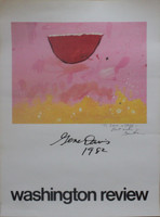 Gene Davis Rare Hand Signed  & Dedicated Washington Review Poster, 1982. Provenance: Estate of Vera Halbrecht Simons