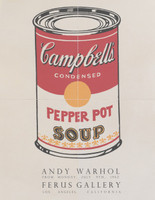 1962 ANDY WARHOL Pepper Pot Soup Ferus Gallery Offset Lithograph Original Iconic Poster Invitation from Warhol's first Soup Can Exhibition