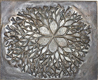 "Ruth Asawa Cast Bronze Sculpture Bas Relief ""Flower""  for Crown Zellerbach, 1979"