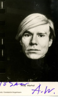 Vintage Hand Signed and dedicated Andy Warhol Photograph Foto Postcard