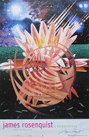 JAMES ROSENQUIST, Hand Signed Poster from Guggenheim Museum Retrospective, 2004