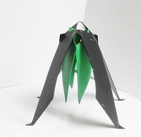 George Sugarman Sculpture, Black and Green, Institute of Contemporary Art, 1983, Signed