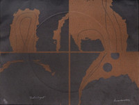 "Louise Nevelson Lithograph with Embossing ""Dusk in August"" from Portfolio 9, 1967 (signed, numbered_"