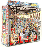 "Red Grooms ""Red and Bud's Deli"", Mixed Media Construction, 2004 Signed"