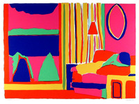 "John Grillo Silkscreen ""Living Room"", 1978 (Lt. Ed: Signed, Numbered)"