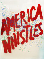 "Ed Ruscha ""America Whistles"" ,Silkscreen, 1975, Hand Signed, Numbered"