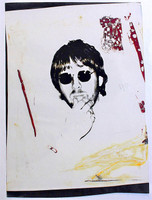 Andy Warhol, Portrait of Conceptual Artist Joseph Kosuth, 1974