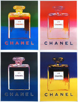 ANDY WARHOL, Chanel No. 5, Set of Four Offset Lithographs on Linen Back, Chanel  1997