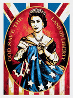 Shepard Fairey God Save the Queen, Screenprint, Lt Ed, Signed/Numbered 2012