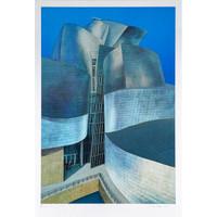RICHARD HAAS, Guggenheim Bilbao, Silkscreen & Lithograph on ALUMINUM, Signed/N Lt. Ed., 2000