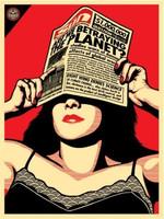 Shepard Fairey, Global Warning - Global Warning, Vintage Signed, Numbered Silkscreen