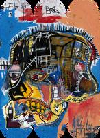 JEAN-MICHEL BASQUIAT,  Estate Authorized Skull Skate Deck Triptych (set of 3), 2014