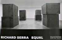 "Richard Serra, ""Equal"", Rare Hand Signed Poster"