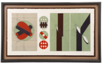 ARNALDO POMODORO, Color Lithograph, 1970, Signed/N Edition of only 15, Marlborough Graphics, Framed