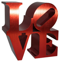 ROBERT INDIANA Red Love Sculpture, 2011, Artist Authorized, Museum Stamped SOLD OUT Edition