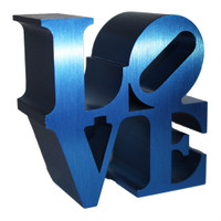 ROBERT INDIANA Blue Love Sculpture, 2011, Artist Authorized, Museum Stamped SOLD OUT Edition