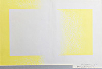 Richard Anuszkiewicz Yellow Reversed, Lithograph, Hand signed, dated - Rare!