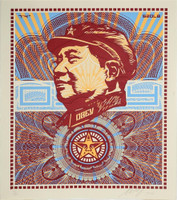 Shepard Fairey, The Beloved Premier, We are Blinded by Your Majesty (Mao Money Red), 2003, RARE Lt Ed