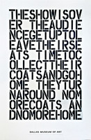 CHRISTOPHER WOOL - Discontinued Dallas Museum of Art Poster (Limited Edition), 2000