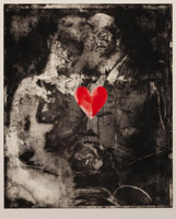 Jim Dine, Two Figures Linked by Pre-Verbal Feelings, 1976 Rare Limited Edition