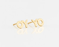 "DEBORAH KASS ""OY/YO"" STUD EARRINGS"