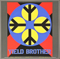 "ROBERT INDIANA, ""Yield Brother"", Signed, Inscribed, Dated with Original Drawing, 1990"