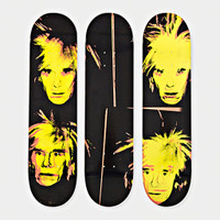 ANDY WARHOL, SELF PORTRAIT (Set of 3 Limited Edition Skate Decks), 2015