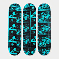 ANDY WARHOL, Set of 3 Limited Edition Disaster Series Skateboards, 2015