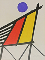 ALEXANDER CALDER, Blue Sun from Conspiracy: The Artist as Witness, 1971