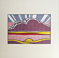 ROY LICHTENSTEIN, SINKING SUN, 1964 (Lt Ed Promotional Print for Art Basel), 1987