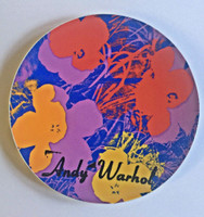 ANDY WARHOL, FLOWERS, Limited Edition Foundation Authorized, Rosenthal Porcelain Plate ca., 1995