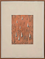 DAVID HUMPHREY, LIES III (Framed with David McKee Gallery Label), 1986