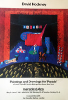 DAVID HOCKNEY, Paintings and Drawings for Parade (Rare Hand Signed Offset Lithograph Poster), 1981