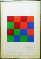 MAX BILL, Untitled Silkscreen (inscribed to renowned collector Guy Weill), 1964