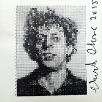 CHUCK CLOSE, PHIL (from Rubber Stamp Portfolio) - SIGNED, 1976-2015