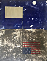 JAMES ROSENQUIST, MIRRORED AMERICAN FLAG (from Cold Light Series), 1971