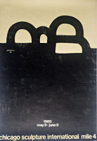 EDUARDO CHILLIDA, Vintage Poster for Chicago Sculpture International, 1985