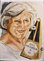Philip Pearlstein, OLGA HIRSHHORN IS 90, 2010